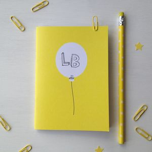 Personalised Balloon Pocket Notebook