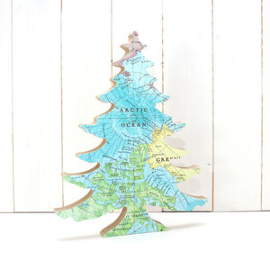 Arctic Map Free Standing Christmas Tree