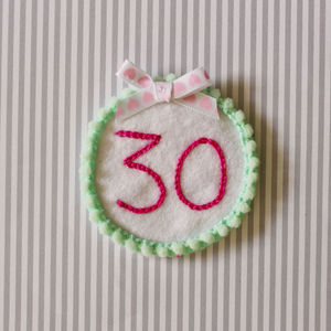 Personalised Stitched Birthday Age Badge