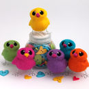 Needle Felted Mini Bird In Bright Rainbow Colours