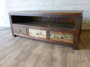 Mary Rose Upcycled Three Drawer TV Unit - living room