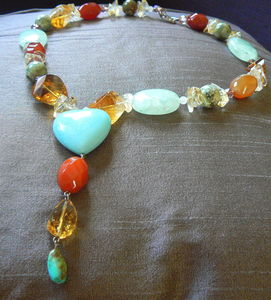 La St One Left Aventurine Citrine Necklace