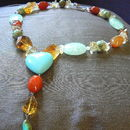 Last One Aventurine Citrine Carnelian Necklace