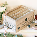 Vintage Wooden Sewing Box Haberdashery Gift
