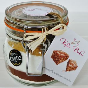 Gorgeously Gooey Chocolate Brownie Mix Jar - food & drink gifts