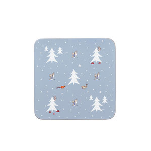 Winter Woodland Set Of Four Coasters