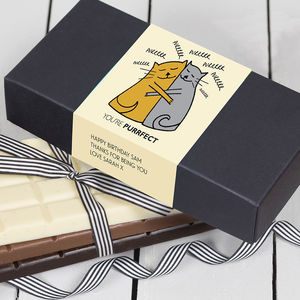 Cat Lover Gift Trio Of Chocolate Bars - for dog lovers and cat lovers
