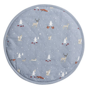 Winter Woodland Circular Hob Cover - view all decorations