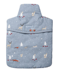 Winter Woodland Hot Water Bottle Cover