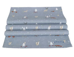 Winter Woodland Table Runner - last-minute christmas decorations