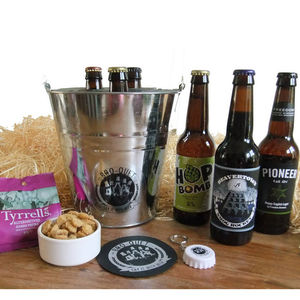 Three Bottle Beer Bouquet - food & drink gifts
