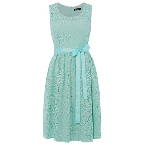 Lace Summer Dress With Ribbon Belt - summer wedding