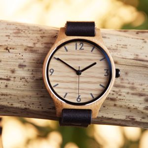 Natural Black Bamboo Watch - watches