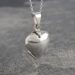 Chunky Heart Sterling Silver Locket Necklace - necklaces & pendants