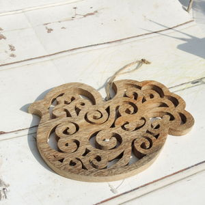 Wooden Bird Trivet - kitchen accessories