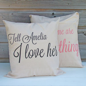 'In your own words' Cushions - bedroom