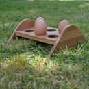 'Eggy Bed' Oak Egg Rack
