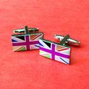 Union Jack Cufflinks Multi Coloured