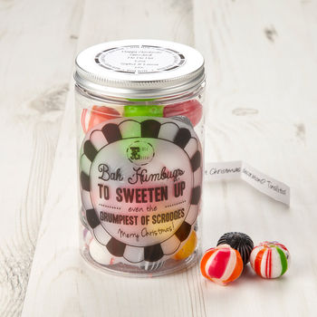 Christmas Sweet Jar Bah Humbugs