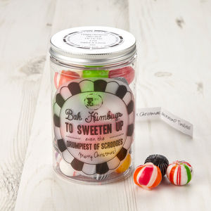 Christmas Sweet Jar Bah Humbugs - christmas parties & entertaining
