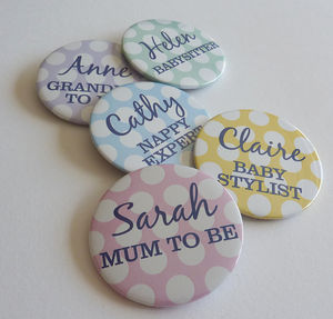 Baby Shower Spotty Pocket Mirror - baby shower