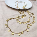 Chains Of Gold Disc Necklace