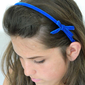 Kate Handmade Velvet Hairband - wedding fashion