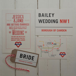 London Town Wedding Invitation - invitations