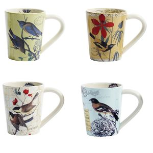 Nordal Cups With Birds Four Assorted - kitchen