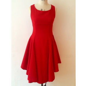 Red Swirl Dress - dresses