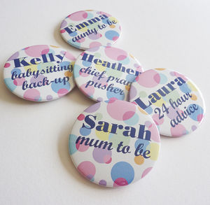 Baby Shower Badges - christening invitations