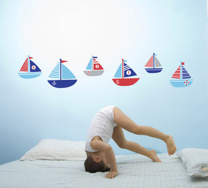 Ahoy There! Boat Wall Stickers - children's room