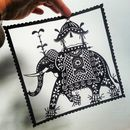 Indian Elephant Original Handcut Papercut