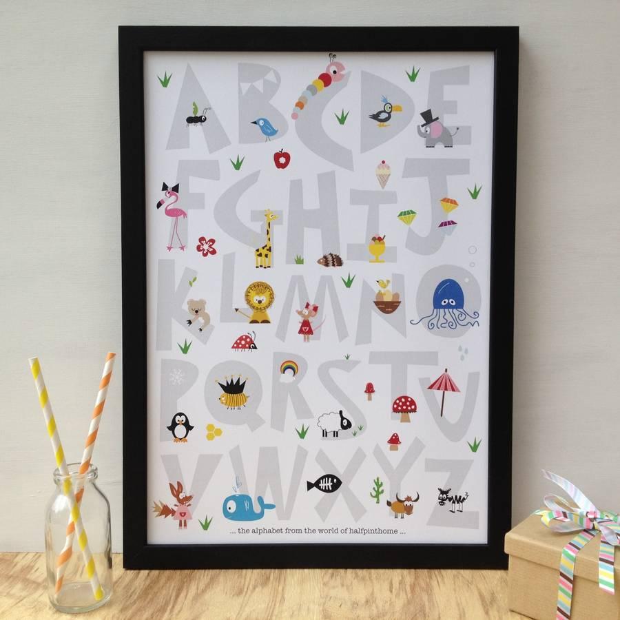 Children's Nursery Alphabet Print