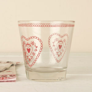 Heart Etched Tea Light Votive - view all decorations