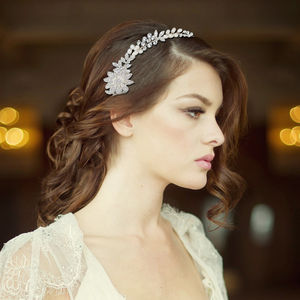 Angelica Crystal And Pearl Hair Vine - wedding fashion