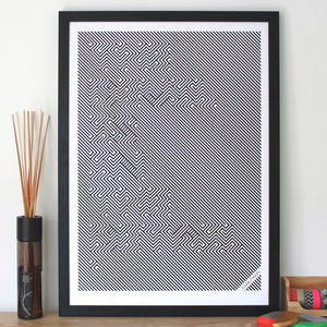 'Devil Is In The Detail' Limited Edition Screen Print - typography