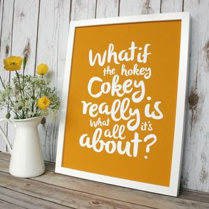 Hokey Cokey Typography Print - posters & prints for children