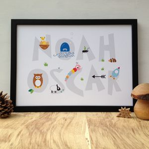 Personalised Children's Name Print - children's pictures & paintings