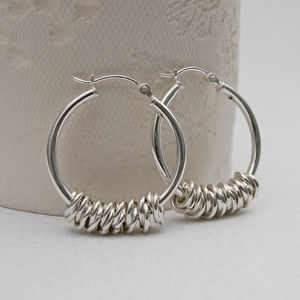 Silver Hoola Hoop Earrings - earrings