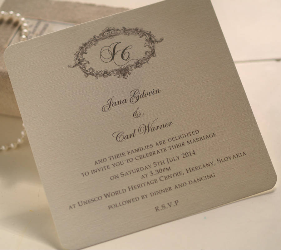 sample of wedding invitation letter%0A Victorian Personalised Wedding Invitations
