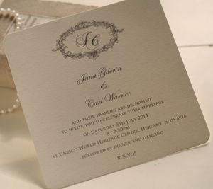 'Victorian' Personalised Wedding Invitations - invitations