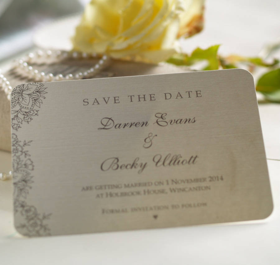 'vintage lace' wedding save the date cards by beautiful ...