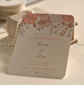 Peach Blossom Save The Date Cards