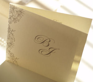 Vintage Lace Folded Wedding Invitation - modern calligraphy for weddings