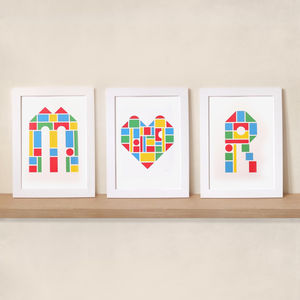 I Heart You Set Of Three Prints