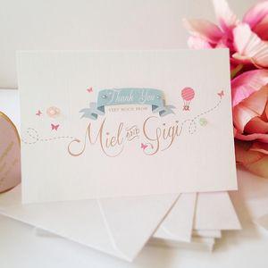 Marvellous Matilda Thank You Card - wedding stationery