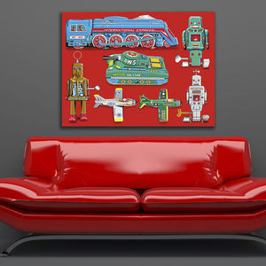 Pop Art Tin Toy Print No2 - canvas prints & art