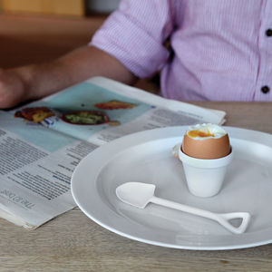 Eggpot And Shovel Eggcup - for foodies