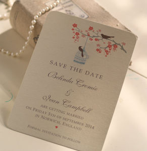 'Love Birds' Save The Date Cards